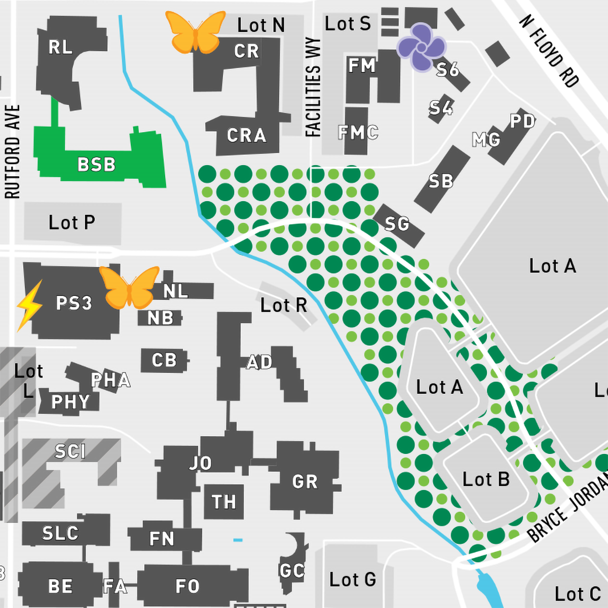 Our Green Campus - Download the Full-Size Map